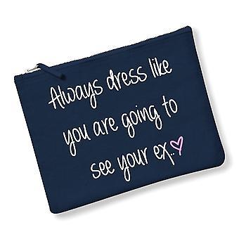 """دائماً """"اللباس مثل هي الذهاب لمشاهدة الخاص بك السابقين يشكلون كيس أزرق داكن الرمادي أو الوردي"""""""