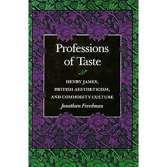 Métiers du goût - Henry James - esthétisme britannique et Commodit