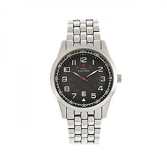 Elevon Garrison Bracelet Watch w/Date - Silver/Black