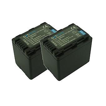 2 x Dot.Foto Panasonic VW-VBK360, VW-VBK360E-K PREMIUM reemplazo de la batería - 2 años de garantía [ver Descripción de compatibilidad]