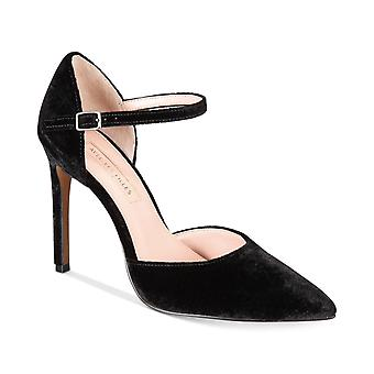 Avec Les Filles Womens Carly samt wies Toe Ankle Strap D-Orsay Pumps