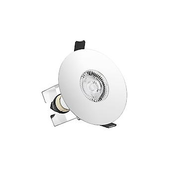 Integral - LED Round 70 100mm cut out Fire Rated Downlight Spotlight Polished Chrome Insulation Guard - ILDLFR70D020