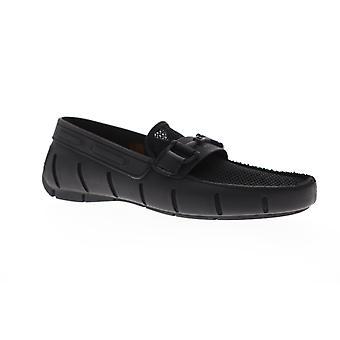 Robert Wayne TF Monaco Mens Black Mesh Low Top Casual Locakers Chaussures