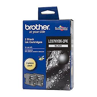 HY Twin Pack Cartridge Brother LC67 - Black