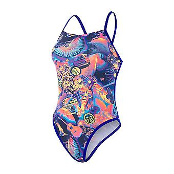 Speedo Hi Five Flash Ribbonback 1 Piece Swimwear For Girls