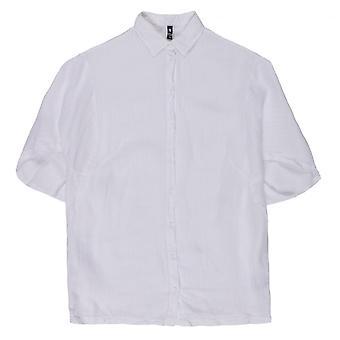 European Culture Oversized Linen Shirt