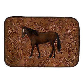 Carolines Treasures  SB3066DDM Horse Dish Drying Mat