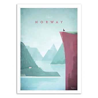 Kunst-poster-bezoek Noorwegen-Henry Rivers 50 x 70 cm