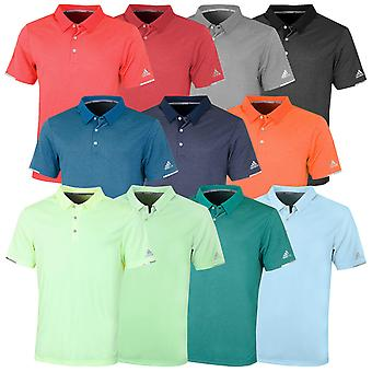 adidas Golf Hombres Climachill Core Heather Polo Camisa