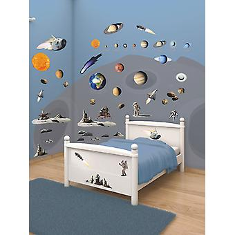 Walltastic Space Adventure Room Decor Wall Sticker Kit Wall Wall