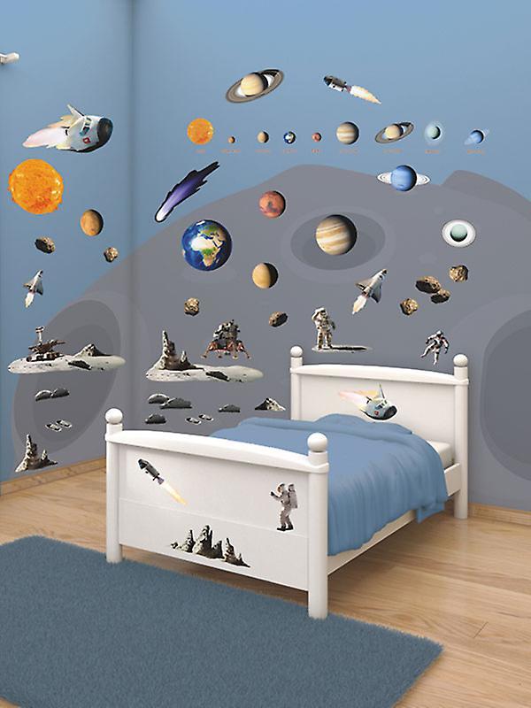 Walltastic Space Adventure Room Decor Wall Sticker Kit