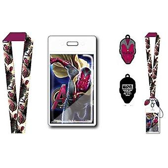 Lanyard - Marvel - Avengers 2 - Vision w/Soft Dangle Hang Tag New 68397