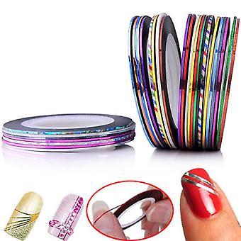 Striping páska, páska na nehty, dekorace nehtů-10pack
