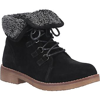 Hush Puppies Womens Milo Zip Up Fur Collared Ankle Boots