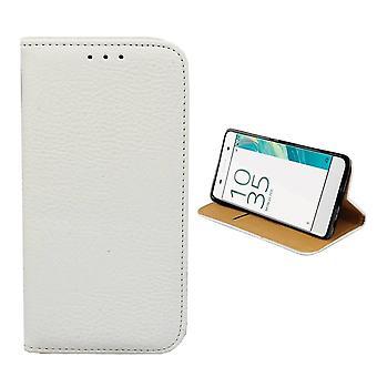 Sony Xperia X Leather Case White - Bookcase