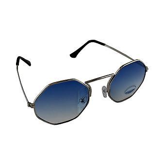 Zonnebril 6-hoek UV 400 Lichtblauw half1892_5