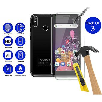 Pack of 3 Tempered Glass Screen Protection For Cubot J3 Pro 5.5