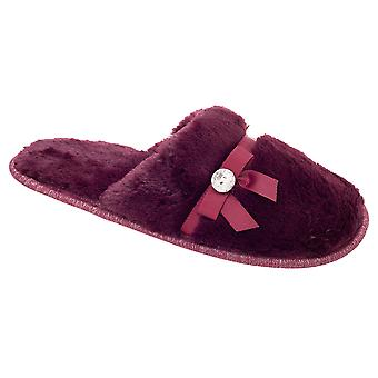 Slumberzzz Womens/Ladies Pearl Plush Mule Slippers