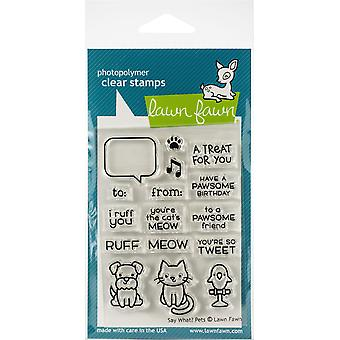Lawn Fawn Say What? Pets Clear Stamps