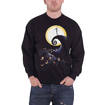 The Nightmare Before Christmas Sweatshirt Cemetery new Official Mens Black