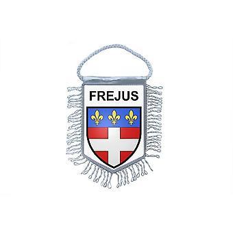 Fanion Mini Flag Country Car Decoration Souvenir Blason France Frejus