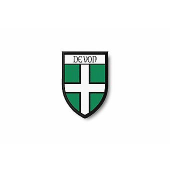 Ecusson bord brode blason imprime thermocollant ville region uk laois
