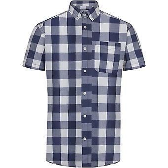 Jack & Jones Boise slim fit shirt met korte mouwen geruit blauw 19
