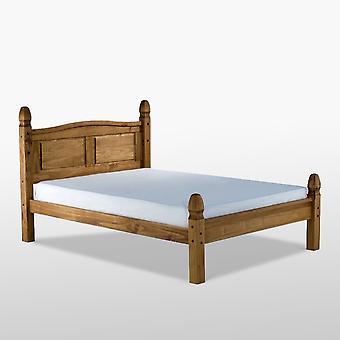 Corona Low End Bed - Natürliche Wachskiefer