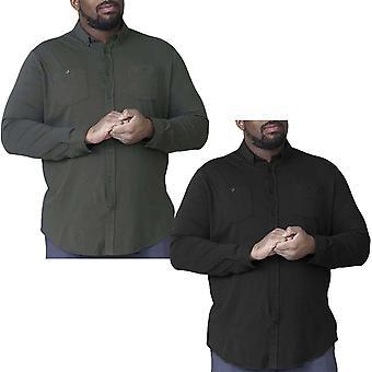Duke D555 Mens Donnie Big Tall King Size Long Sleeve Cotton Button Down Shirt