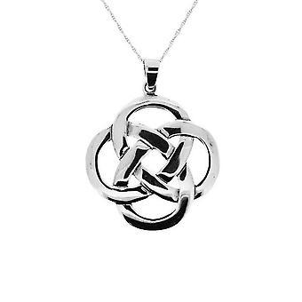 Celtic Eternity Knotwork Necklace Pendant Xl - Includes A 18