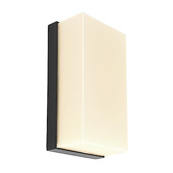 LED wand lamp Grumium hoekig 10W 3000K 200x100x70mm donker grijs aluminium