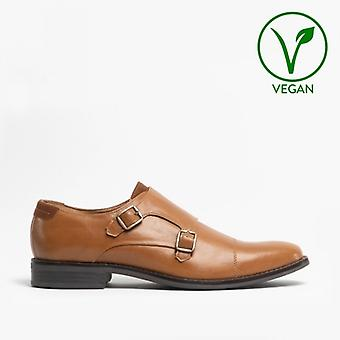 Mister Carlo Liam Mens Monk Strap Shoes Tan