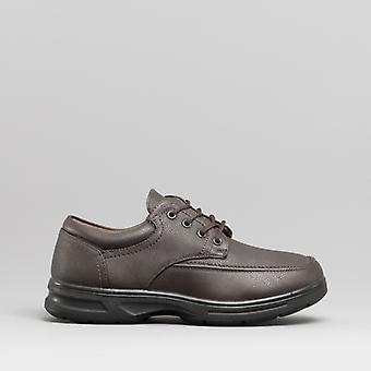 Dr Keller Barry Mens Lace-up Comfort Wide Fit Shoes Brown