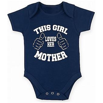 Body neonato blu navy gen0434 this girl loves her mother