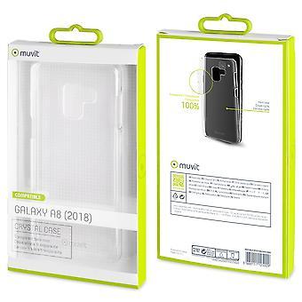 Casco para Samsung Galaxy A8 (2018) transparente e rígido