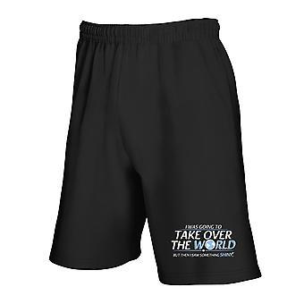 Black tracksuit shorts trk0750 world shiny