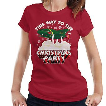 Thunderbirds 2 This Way To The Christmas Party Women's T-Shirt