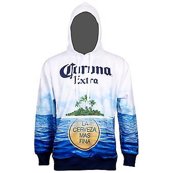 Corona Extra Beer Sublimated Beach Scene Hoodie