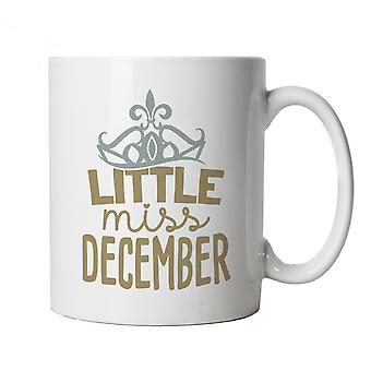 Little Miss December Mug | Happy Birthday Celebration Party Getting Older | Age Related Year Birthday Novelty Gift Present | Birthday Cup Gift