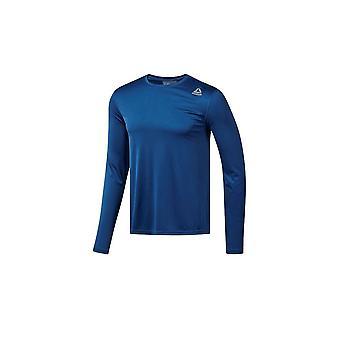 リーボック実行 LS t シャツ CY4667 普遍的なすべての年の男性 t シャツ