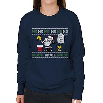 Peanuts Snoopy Dressed As Santa Women's Sweatshirt
