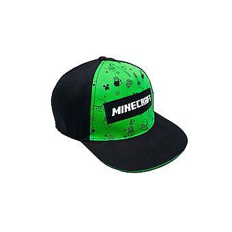 Minecraft Creeper All Over Print Boys/Youth Snapback Cap