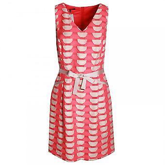 Marie Mero Geometric Print V-neck Sleeveless Dress