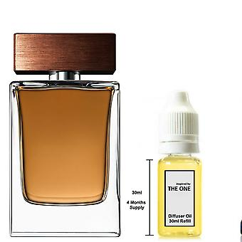 D&G The One For Him Inspired Fragrance 30ml Refill Essential Diffuser Oil Burner Scent Diffuser