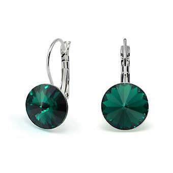Crystal earrings Emerald EMB 1.7