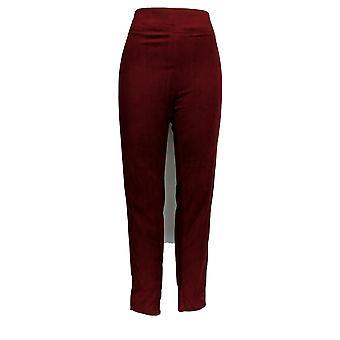 Cuddl Duds Plus Leggings Fleecewear Stretch Pull-on Red A342094