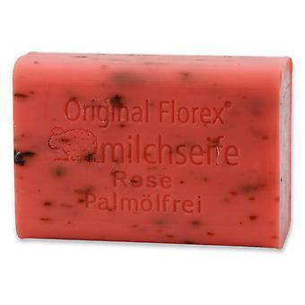Florex Schafmilchseife - Rose ohne Palmöl - umwerfender blumiger romantischer Rosen Duft 100 g