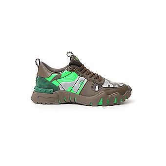 Valentino Garavani Ty0s0c88mhb34k Men's Green Leather Sneakers