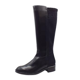 8-10 0663 Highflier Stylish Long Boots En noir