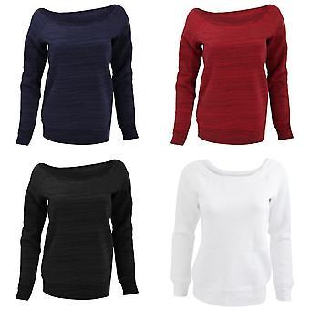 Bella Bayanlar / Bayanlar Triblend Slouchy Wideneck Sweatshirt